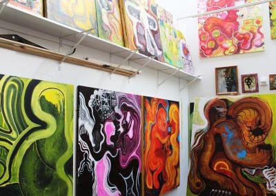 Detail of Justin Eccles' Grad Studio, Art Department, University of Wisconsin-Madison.