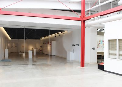 Art Lofts Gallery glass door renderings for Phase 1 of the Art Lofts Remodel.
