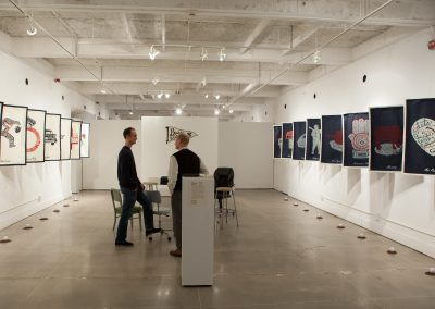 Installation view of Brian Lindstrom's Master of Fine Arts Exhibition at Gallery 7, University of Wisconsin-Madison.