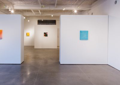 Installation view of Andre Torres's exhibition. 7th Floor Gallery, University of Wisconsin-Madison