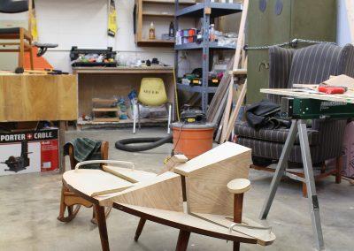 Detail of Anthony Deibner-Hanson's Grad Studio, Art Department, University of Wisconsin-Madison.