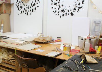 Detail of Elizabeth Younce's Grad Studio, Art Department, University of Wisconsin-Madison.