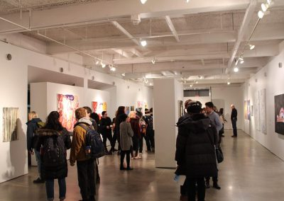 Exhibition reception, 7th Floor Gallery. University of Wisconsin-Madison