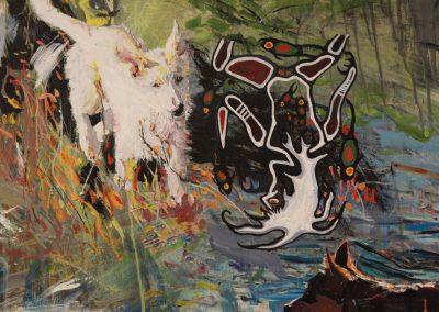 Detail of Amanda Sciullo's work, Art Department, University of Wisconsin-Madison.