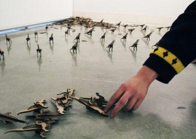Jay Ludden, Dinosaurs, cardboard.