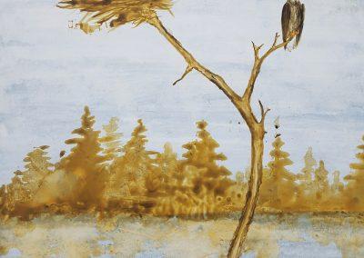 Robin Peeters - Eagles, clayboard painting