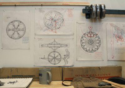 Detail of Justin Playl's Grad Studio, Art Department, University of Wisconsin-Madison.