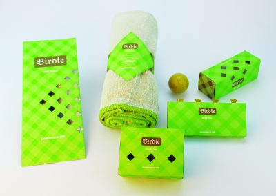 Birdie, graphic design product packaging