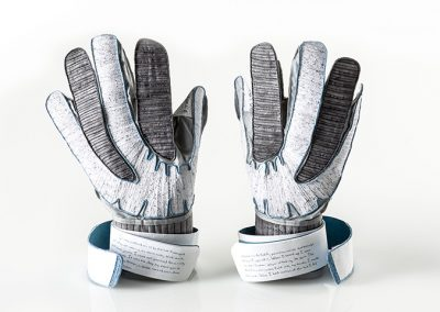 Julie VonDerVellen, Graphic Design MFA, paper arts gloves