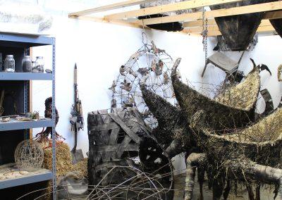 Detail of Sarah Deppe's Grad Studio, Art Department, University of Wisconsin-Madison.