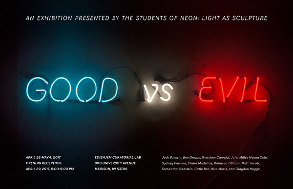 Good vs. Evil Neon Exhibition
