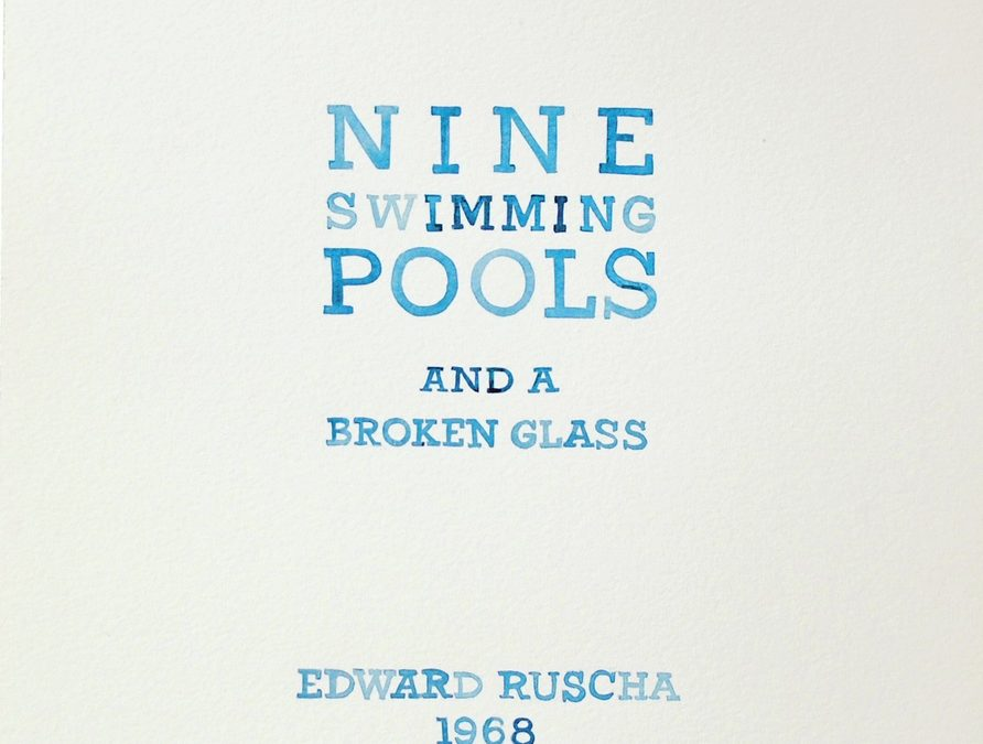 Ed Ruscha's Nine Pools and a Broken Glass by Amy Park, BFA '99 & MFA '03