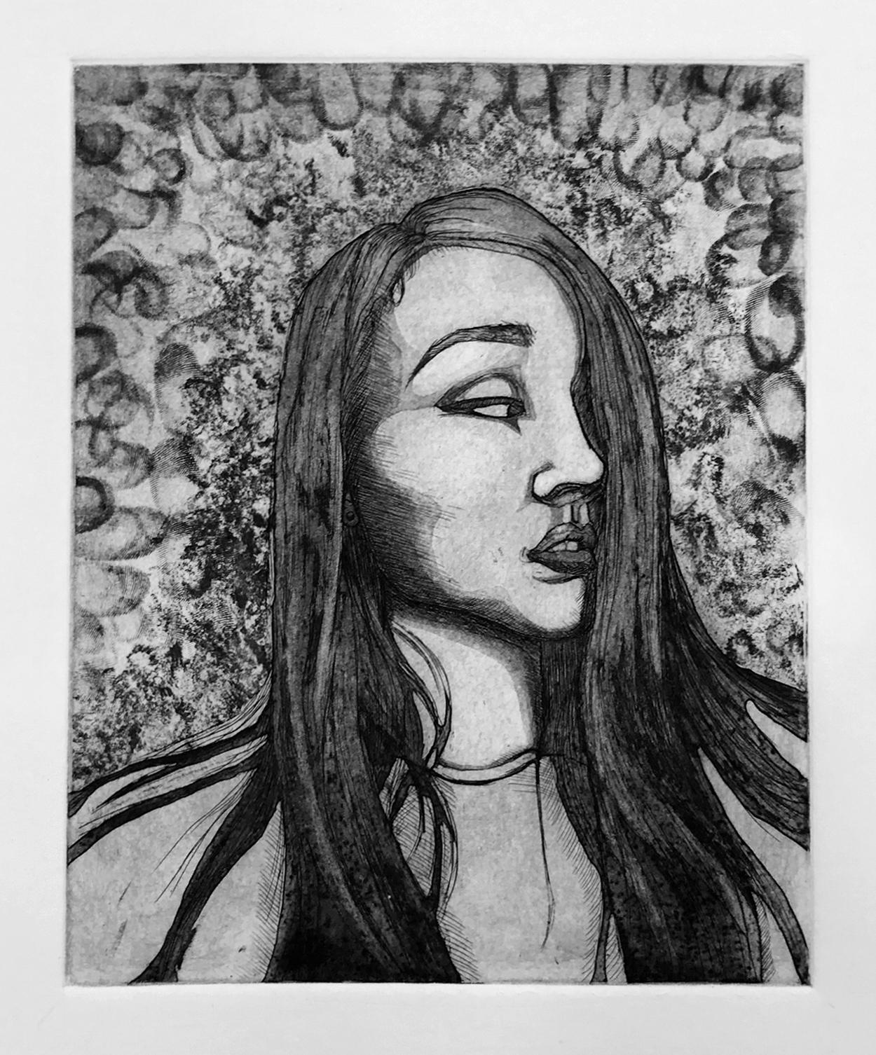Liqi Sheng, alter ego etching