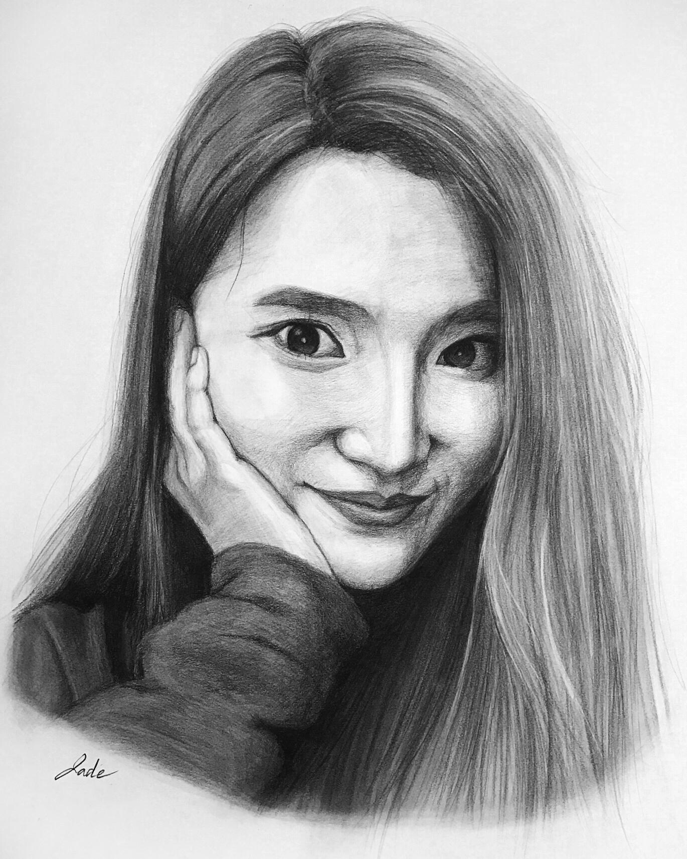 Liqi Sheng, shy girl2 charcoal