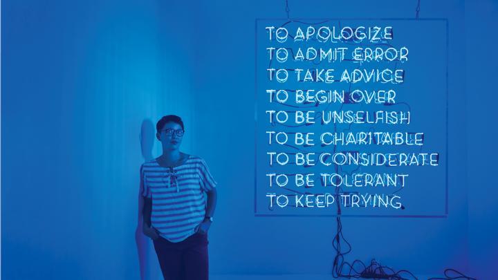 Sign Language: In Helen Lee's captivating sculptures, light speaks by Joyce Lovelace