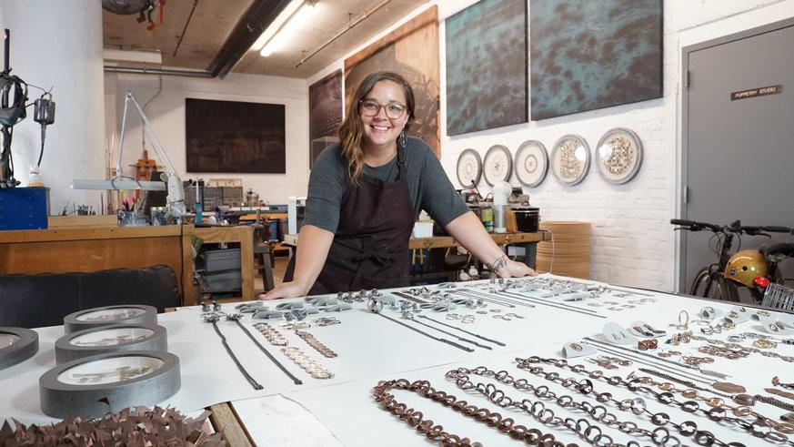 Stacey Lee Webber [MFA '08] gears up for the 2017 PMA Craft Show by Jennifer Logue