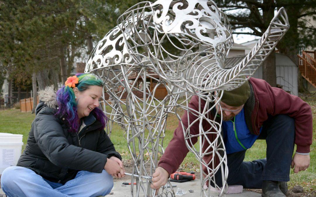Baraboo unveils new Myron Park elephant sculpture by Jake Prinsen