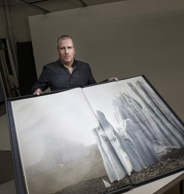 Artist creates massive book on vanishing glaciers by Carol Schmidt