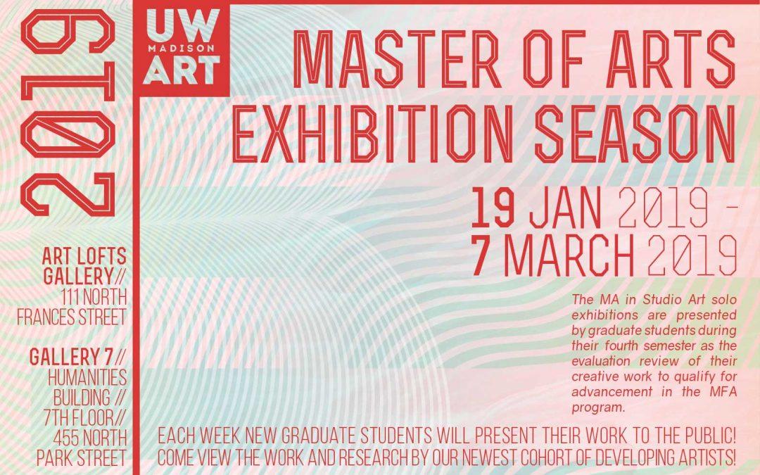 2019 UW Art Master of Arts Exhibition Season