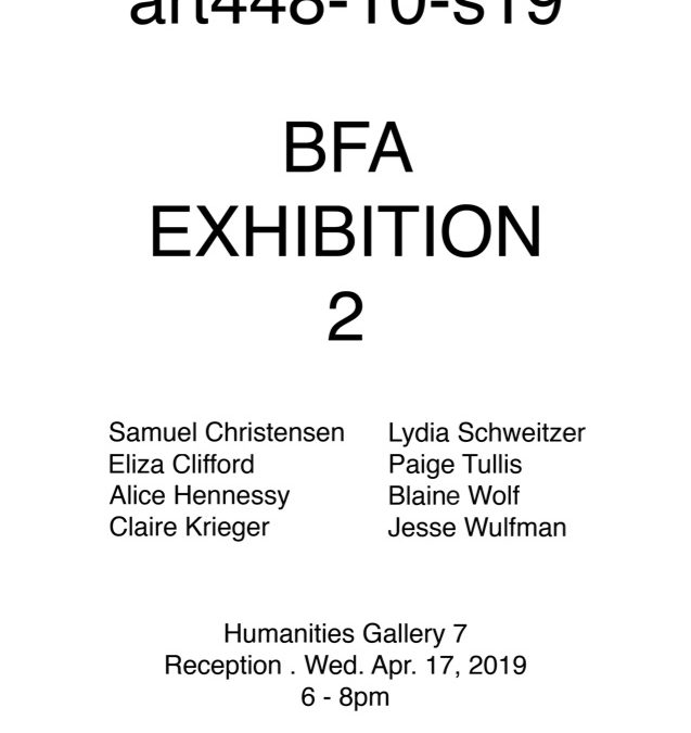 BFA Exhibition 2