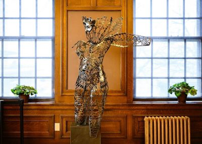 """The Monarch,"" a metal sculpture by UW Grad Victoria Reed."