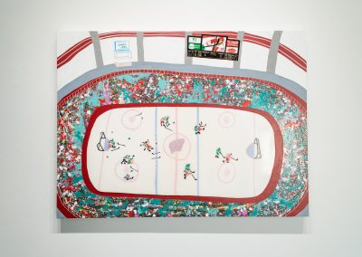 """""""Empty Netter,"""" 2019, painting from James Pederson's Master of Fine Arts exhibition Rules of Engagement at the Gallery 7 of the Humanities Building, University of Wisconsin-Madison. Photography by Kyle Herrera."""