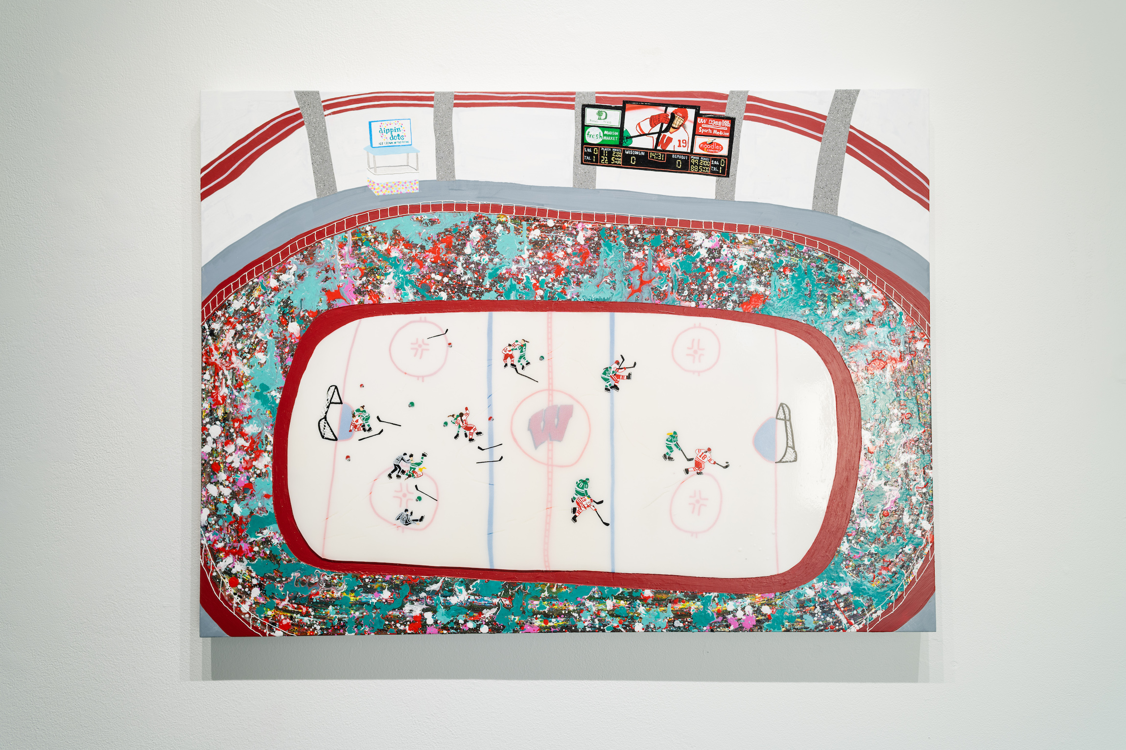 """Empty Netter,"" 2019, painting from James Pederson's Master of Fine Arts exhibition Rules of Engagement at the Gallery 7 of the Humanities Building, University of Wisconsin-Madison. Photography by Kyle Herrera."