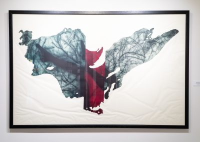 Print artwork from Carissa Kalia Heinrichs' Master of Fine Arts exhibition As the Crow Flies at the Apex Gallery of Tandem Press, University of Wisconsin-Madison. Photography by Kyle Herrera.