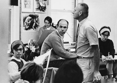 A scene from an art education class in the 1960s.