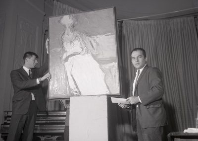 "Professor Richard Reese's ""Seated Figure"" became part of the Union's permanent collection when it was purchased for at the Salon of Art in 1961. Reese taught at the University from 1959 until 1997."