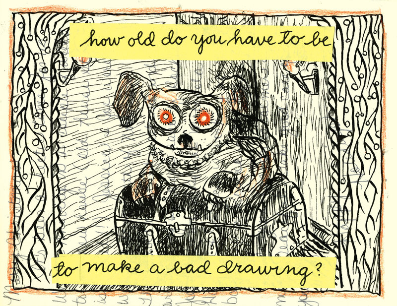 Cartoonist Lynda Barry: Drawing 'Has To Come Out Of Your Body' by Etelka Lehoczky