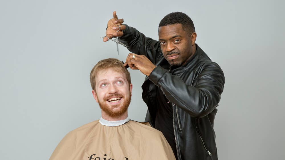 Hogarth at Pitzhanger: Artist Faisal Abdu'Allah on cutting hair at new exhibition about life in London by Samuel Fishwick