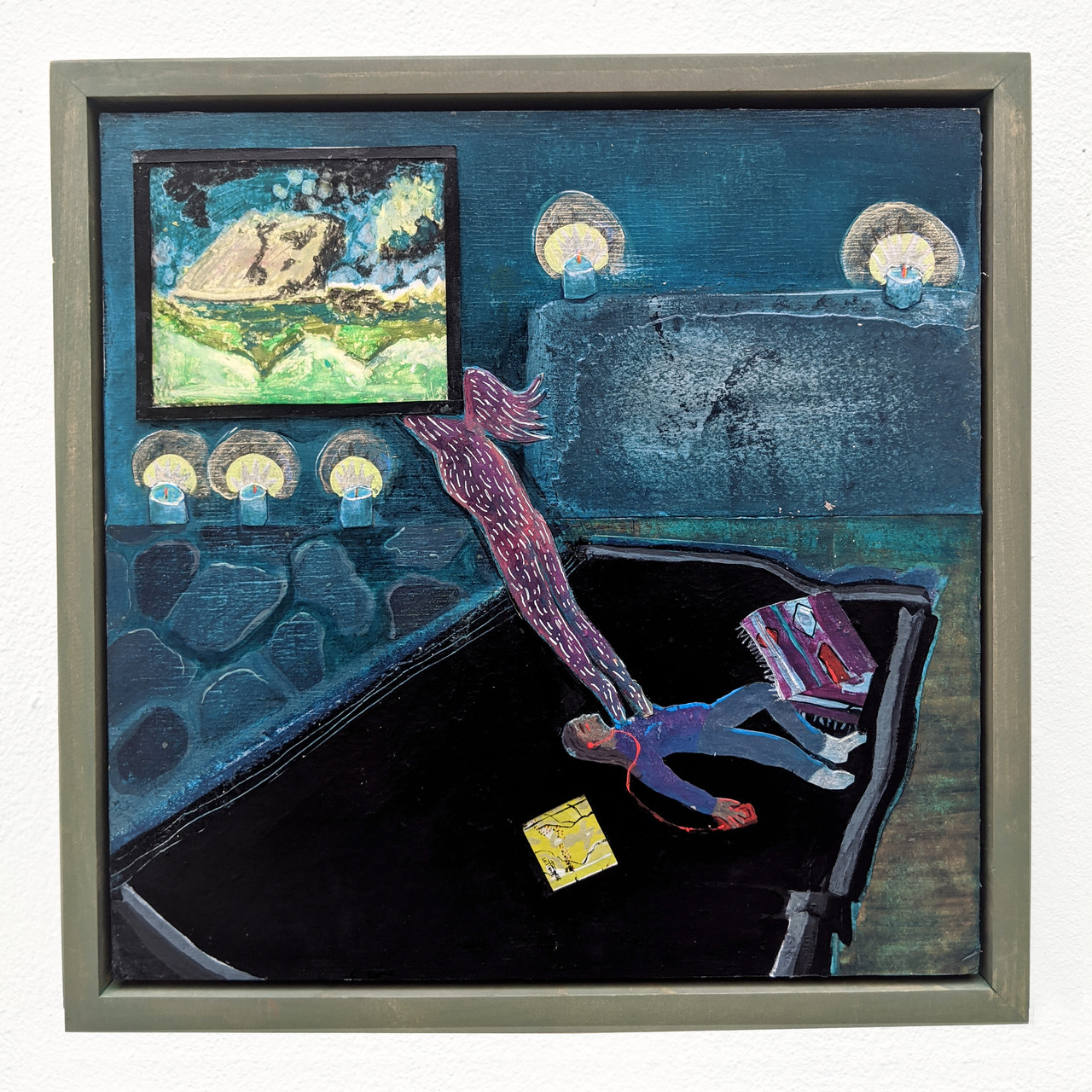 The Plateaux Of Mirror, Collage On Board by Abrahm Guthrie.