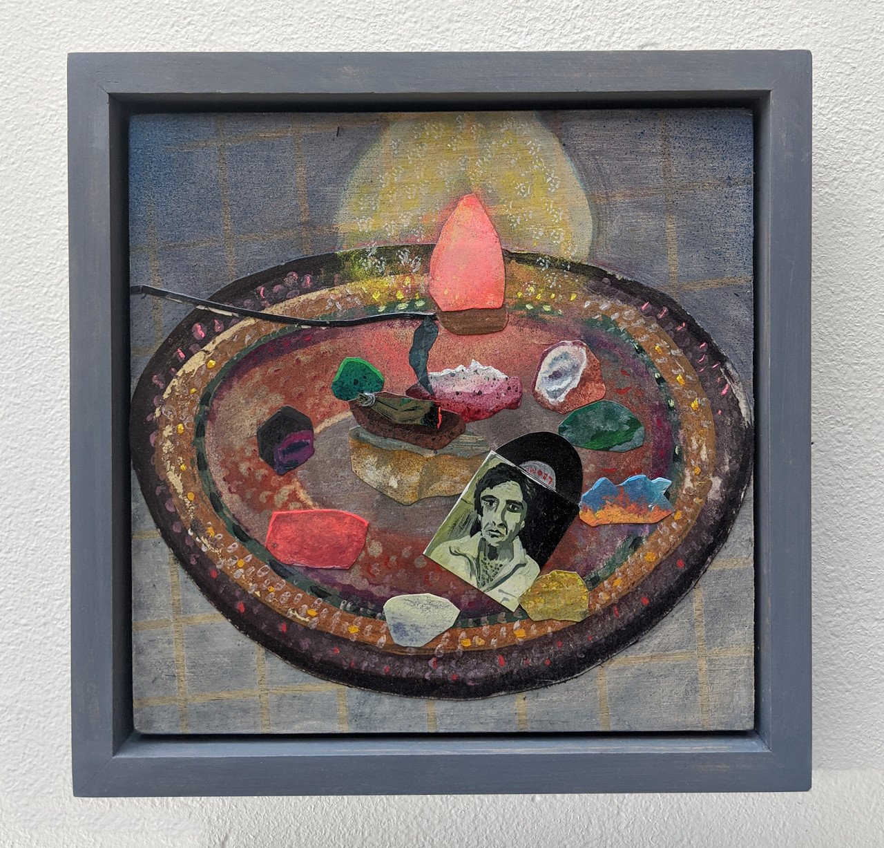 Cohen Tribute, Collage On Board by Abrahm Guthrie.