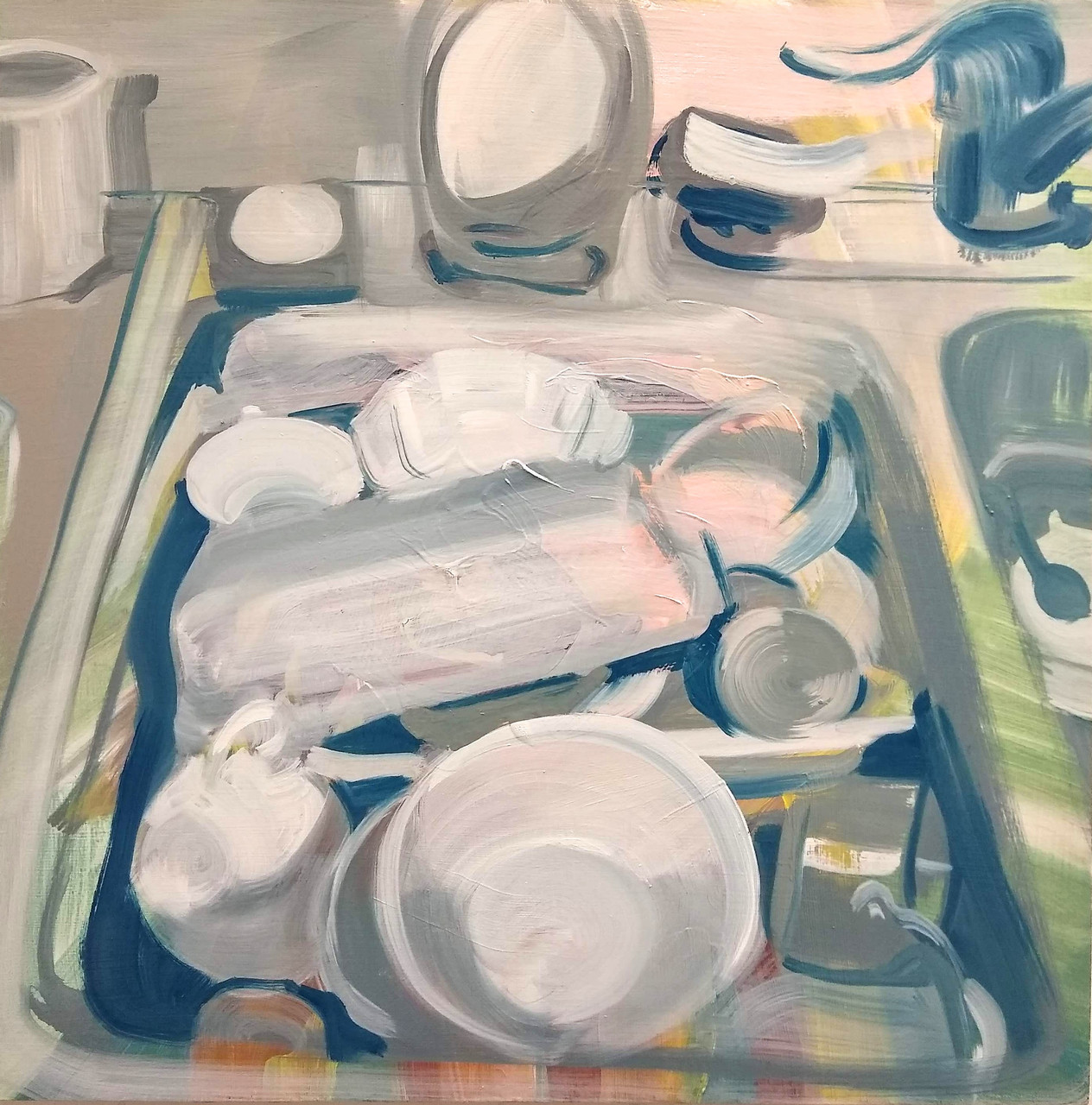 Countertop Still Life 11/14/19 painting by Noël Ash.