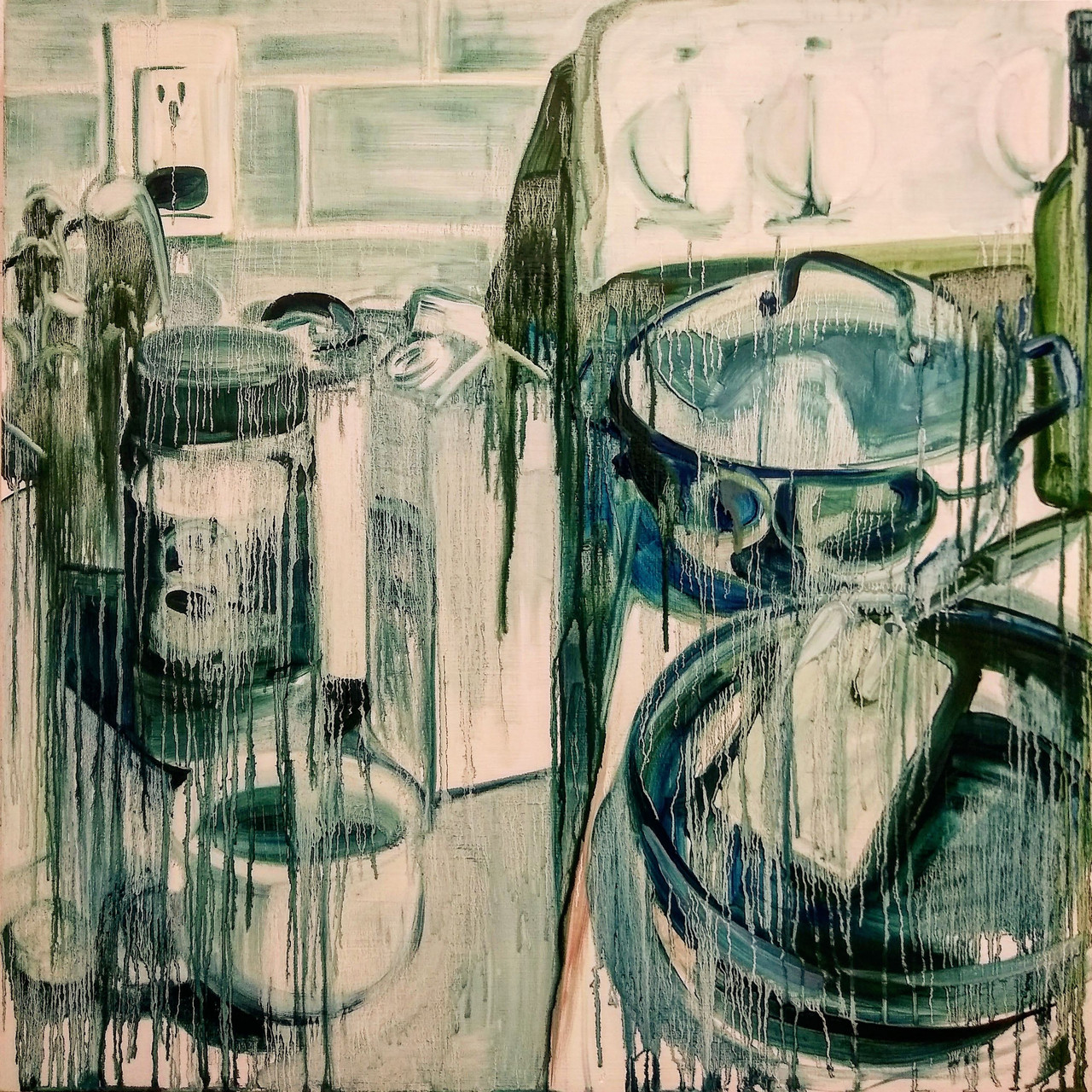 Countertop Still Life 2/20/20 painting by Noël Ash.