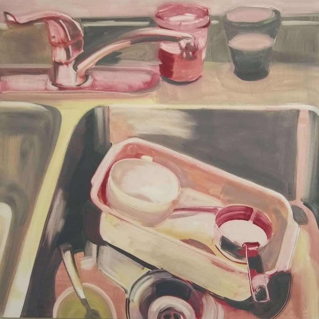 Countertop Still Life 11/24/19 painting by Noël Ash.