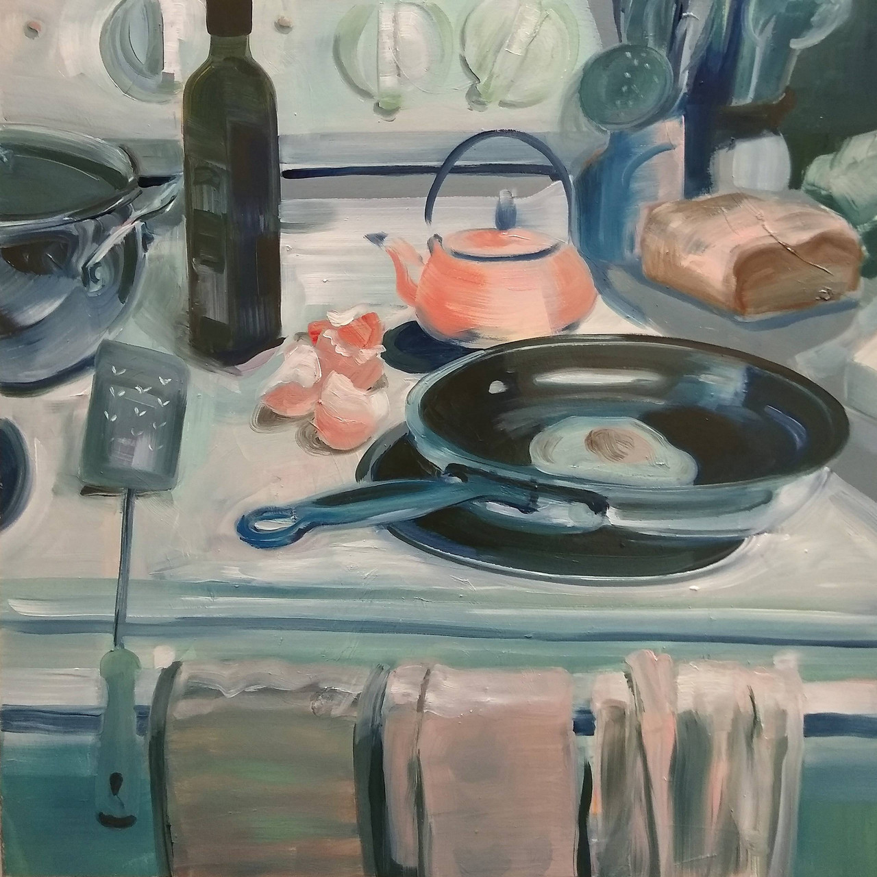 Countertop Still Life 11/13/19 painting by Noël Ash.