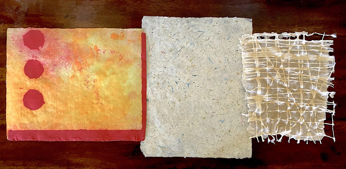 Handmade Papers by Elizabeth Shaw Neviaser.
