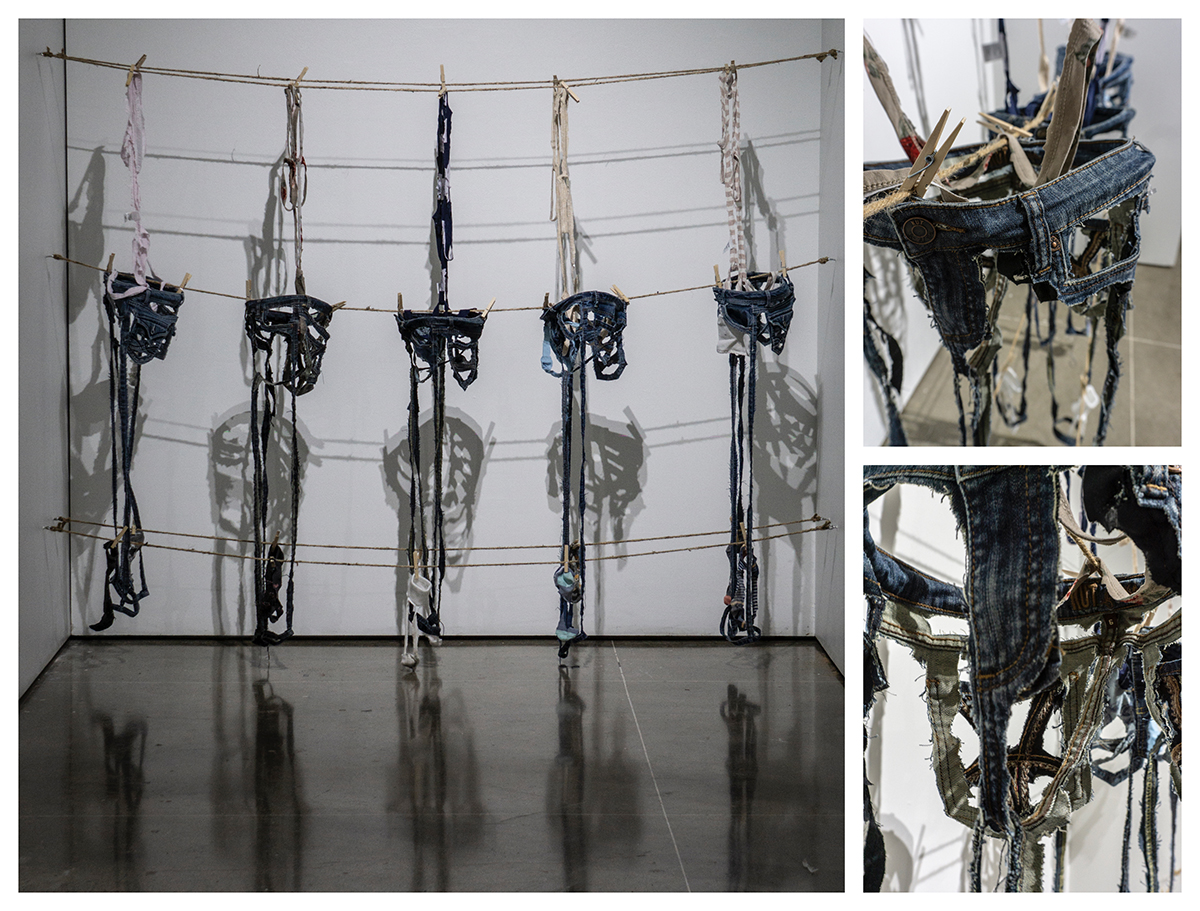 Futile Skeletons, fabric sculpture by Megan Jain.