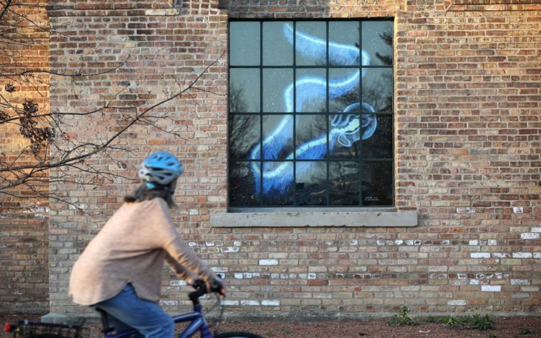 Drive-thru art exhibit at Garver Feed Mill explores themes of social distancing, isolation by Howard Hardee
