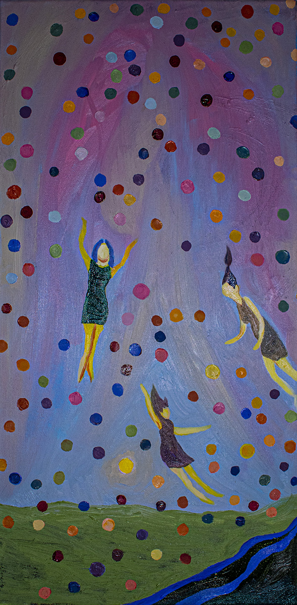 Falling Paint, painting by Lucilia Schieldt.