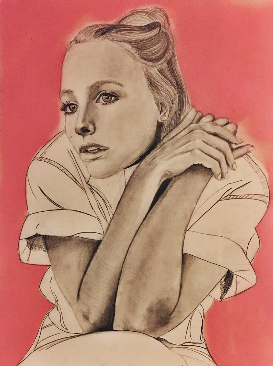 Figures and Pink, drawings by Charlotte Mabie.