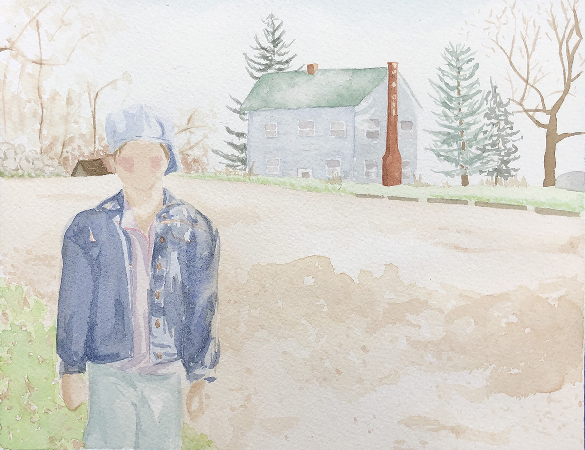 Outdoor Bumming, watercolor painting by Heather Myer.