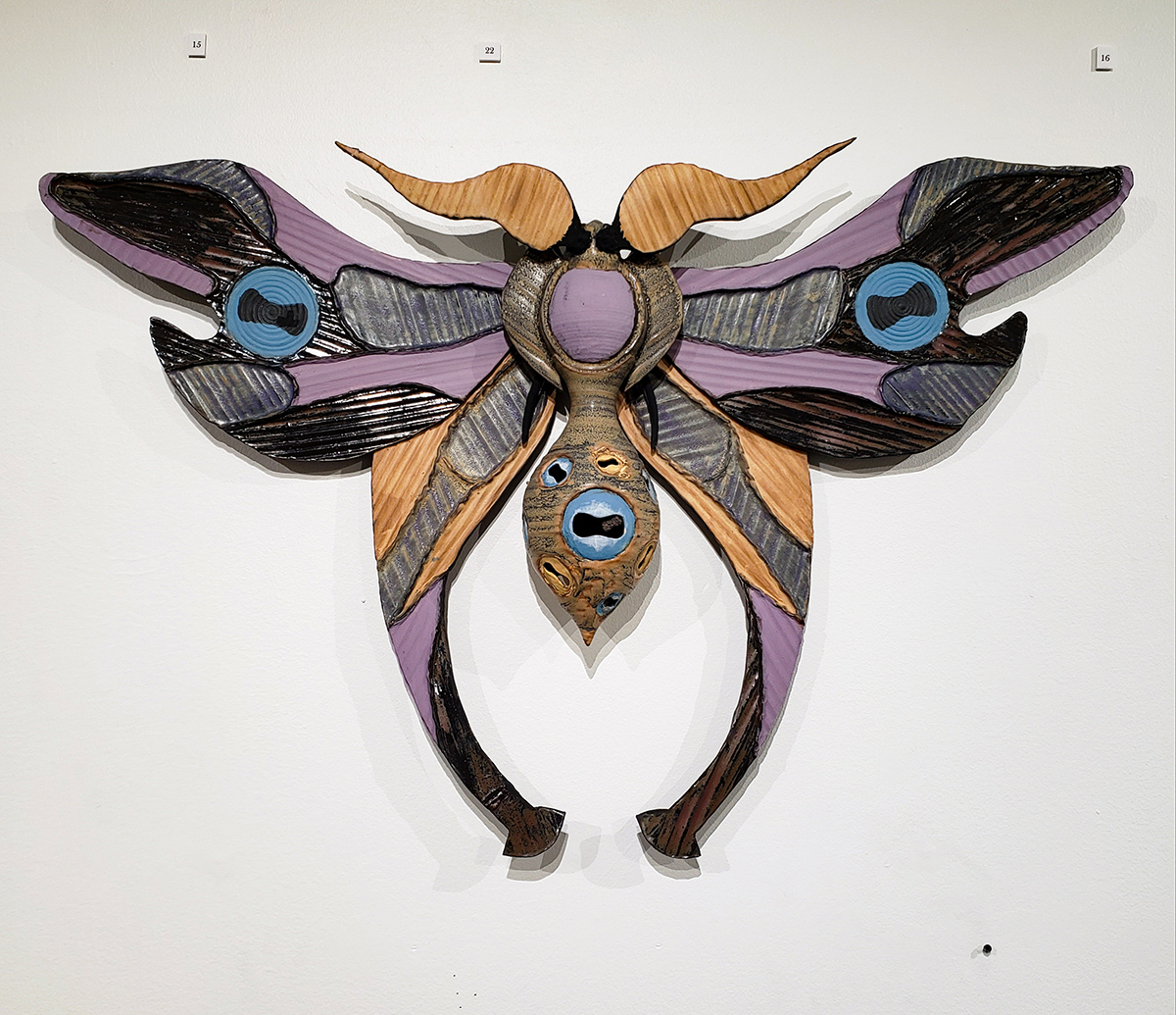 Dr. Mandrakes Wondrous Insects of Morroke, ceramic and mixed media sculpture by Riley McManus.