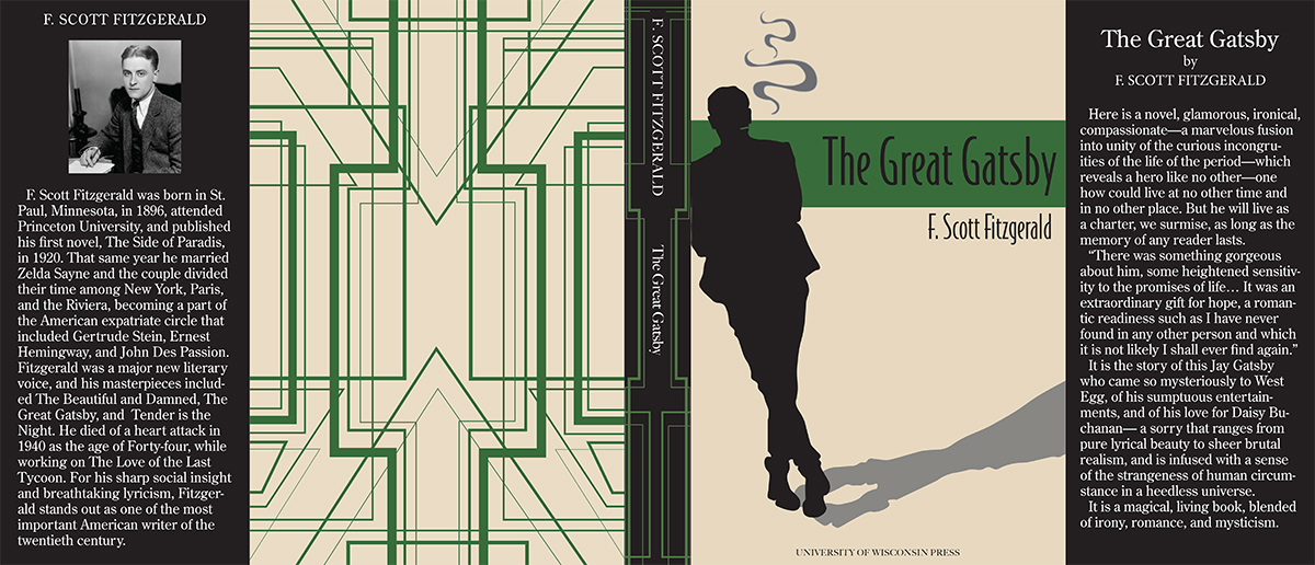 The Great Gatsby Book Cover, design by Kara Morris.