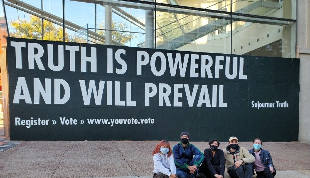 Jenny Holzer mural project at MMoCA kicks off YOUVOTE series championing broad political engagement