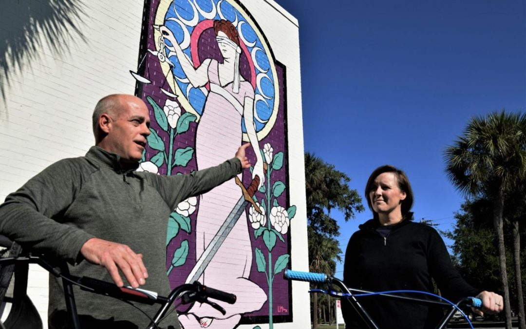 January bike ride aims to bring attention to downtown, murals by Taylor Cooper