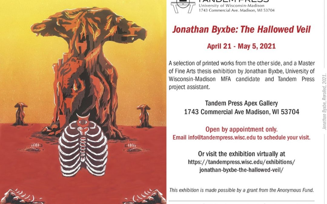 The Hallowed Veil by Jonathan Byxbe exhibition flyer