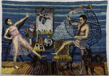 Tapestries by Shari Urquhart on display in Milwaukee galleries by Liz Snyder